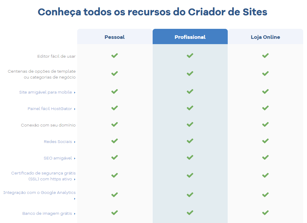 Criador de Sites
