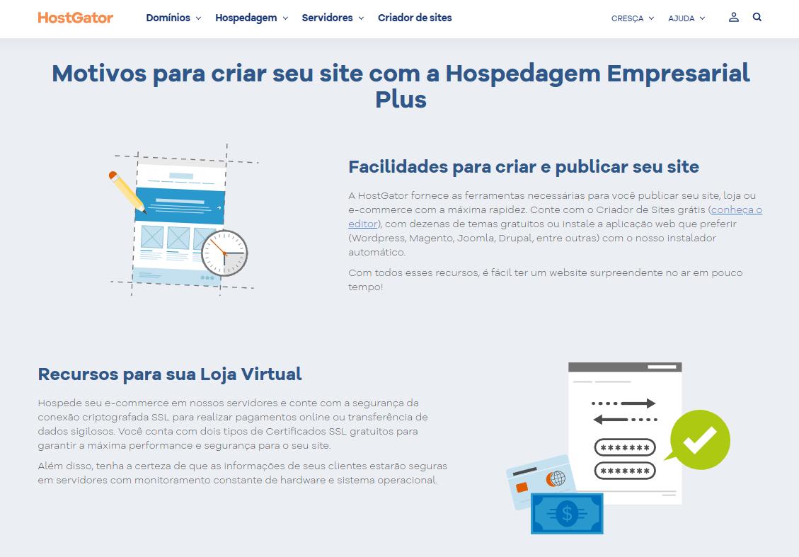 HostGator Hospedagem Empresarial Plus