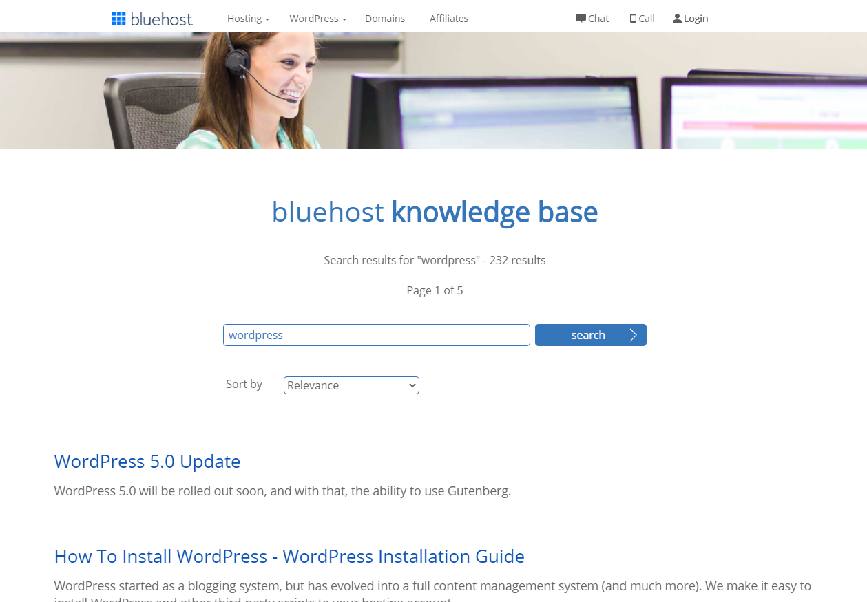 bluehost knowledge base