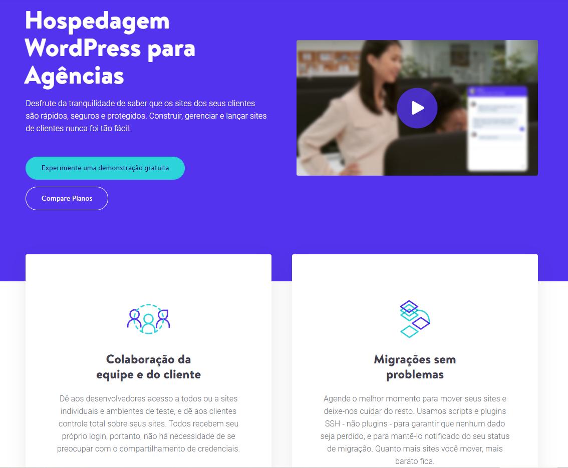 kinsta Hospedagem WordPress para Agências