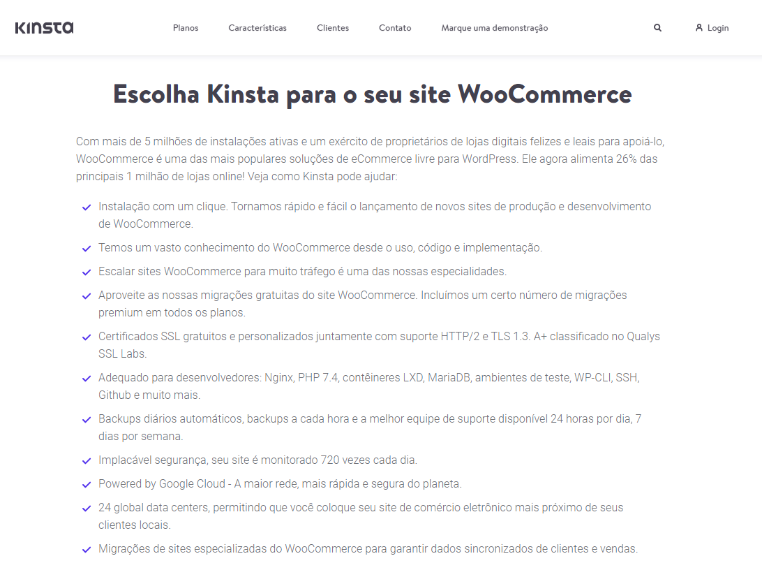 Review do kinsta woocommerce