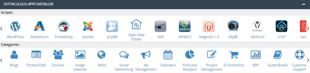 Hostinger cpanel Aplicações Web