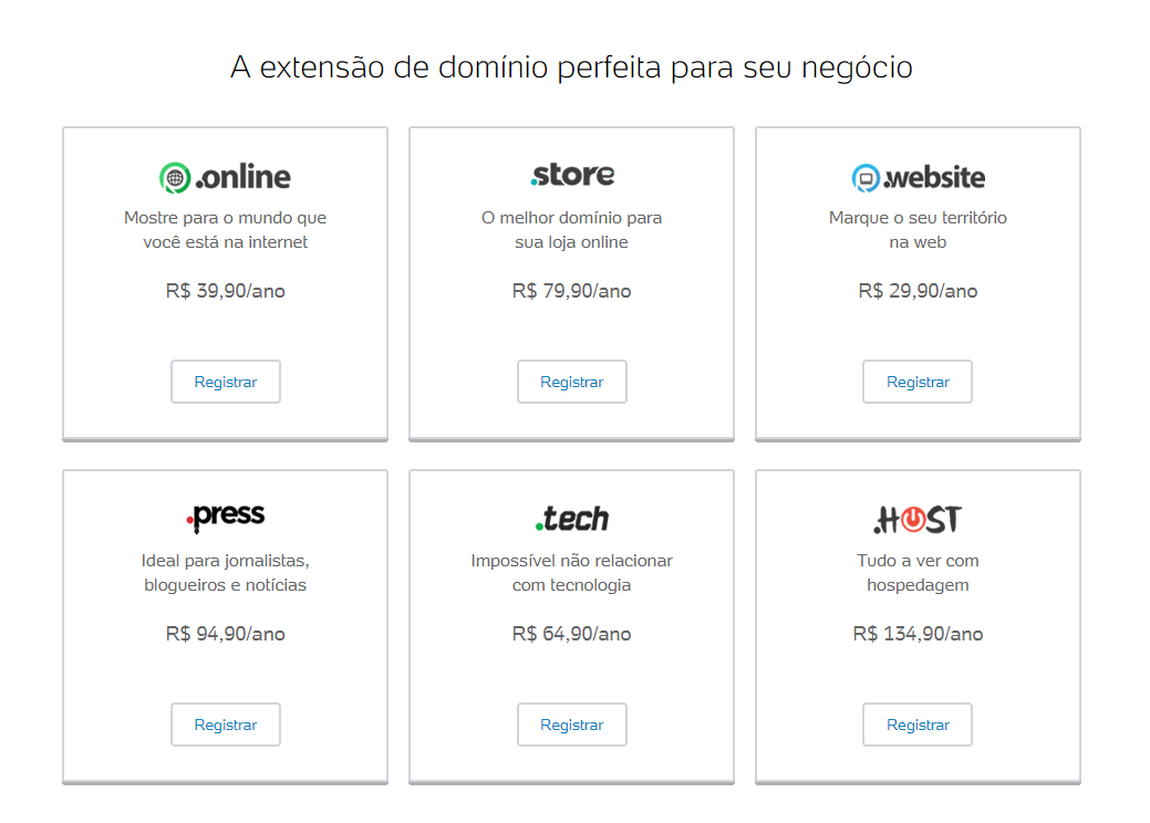 UOL Host Brasil Registro de Domínios