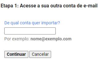 Importar os e-mails recebidos no Webmail para o Gmail