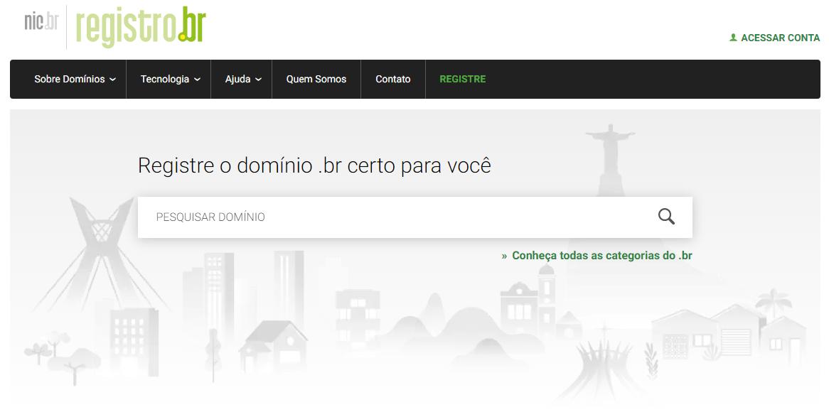 registro do hostinger domínio no Registro.br
